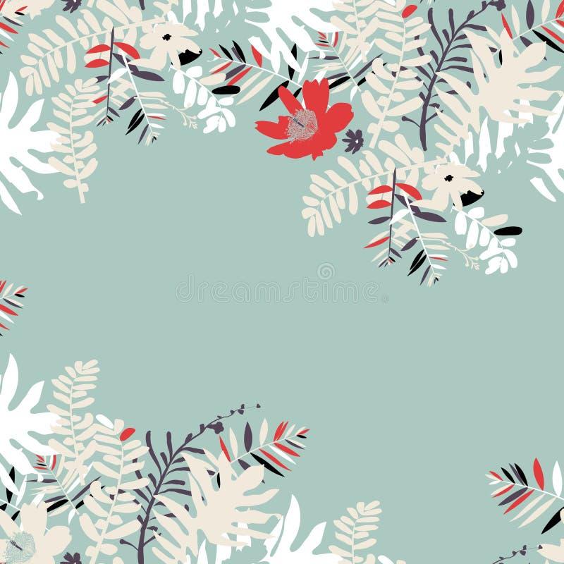 Tropisk sommarkortdesign stock illustrationer
