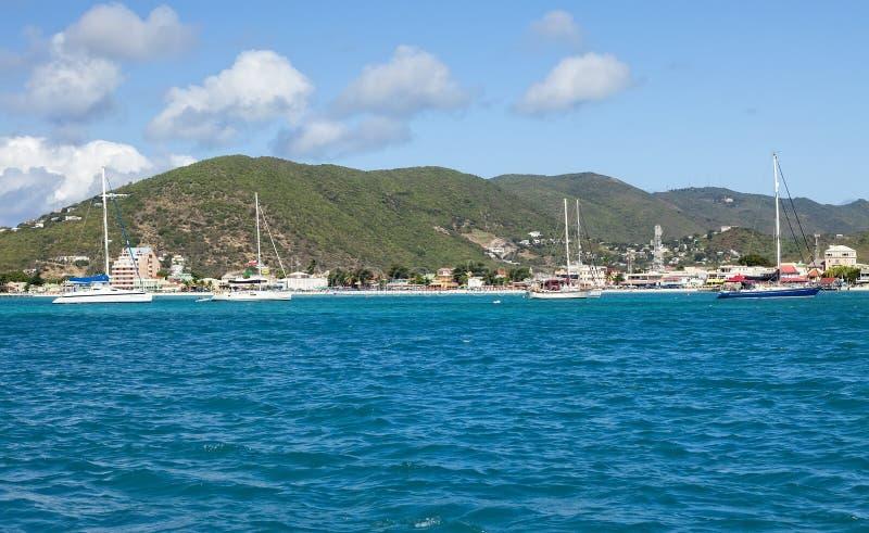 Tropisk St Maarten Island royaltyfri fotografi