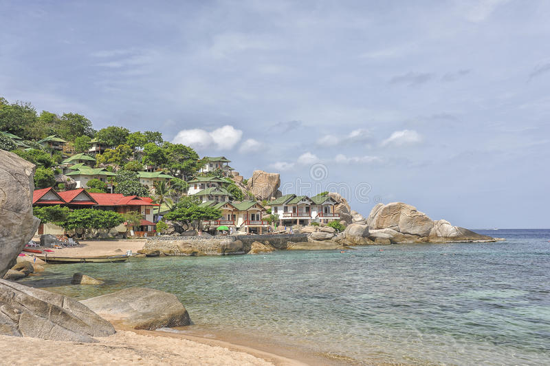 Tropisk strand Koh Tao, Thailand royaltyfri fotografi