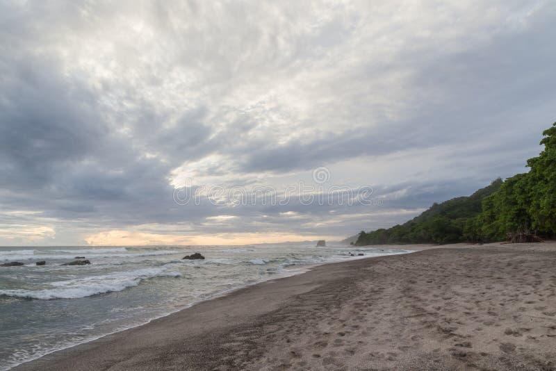 Tropisk strand på santa teresa Costa Rica arkivfoto
