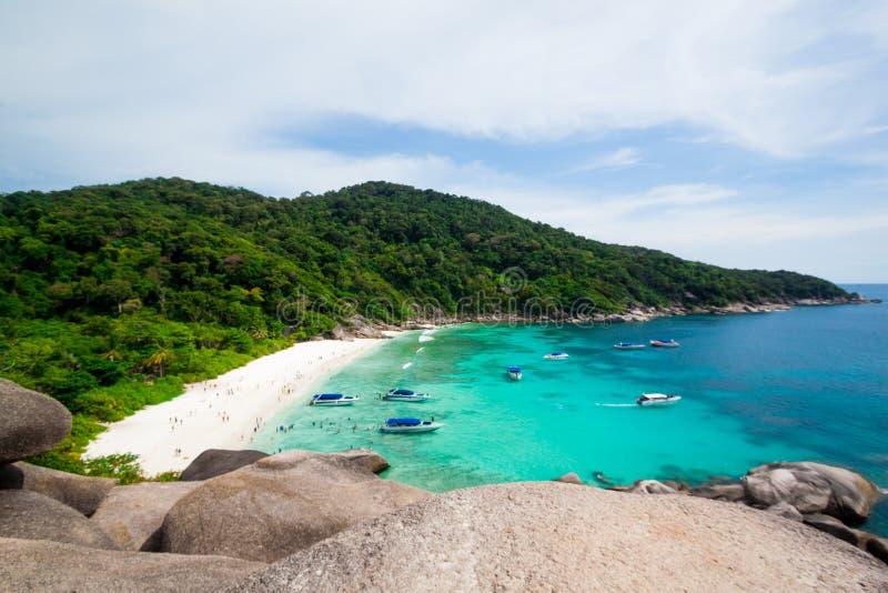 Tropisk strand, Similan öar, Andaman hav royaltyfri bild
