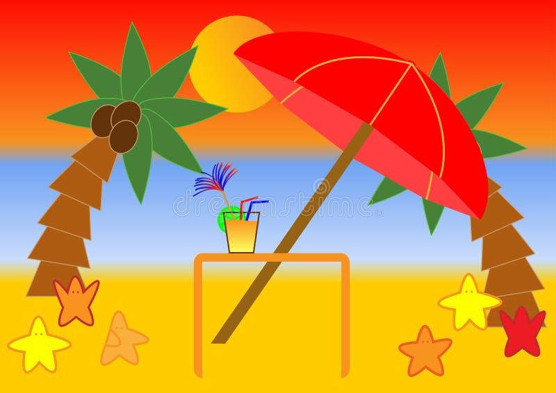 tropisk strandplats vektor illustrationer