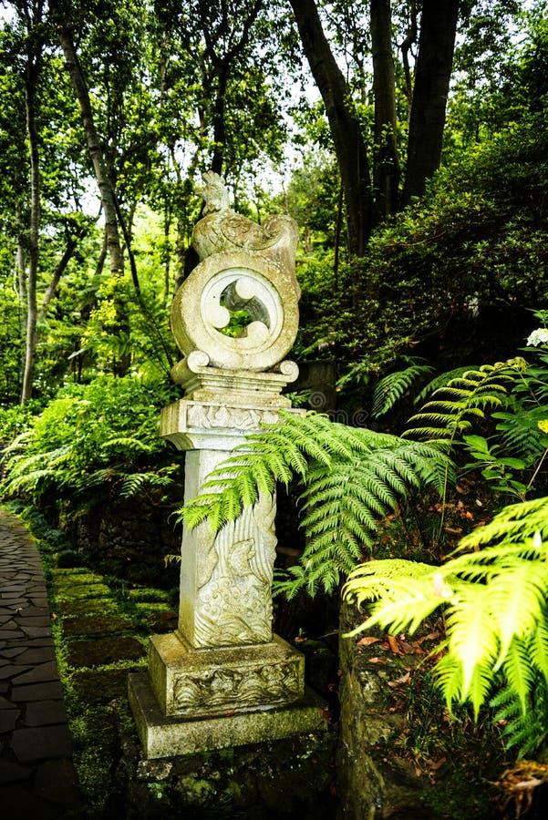 Tropisk trädgård på Monte ovanför den Funchal madeiran fotografering för bildbyråer