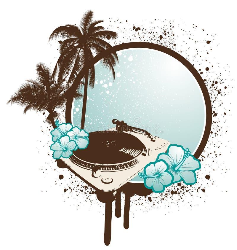 tropisk turntable royaltyfri illustrationer