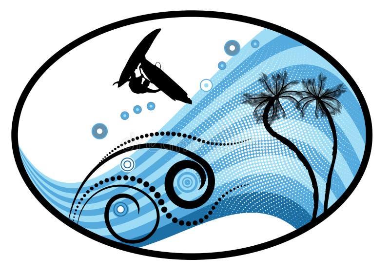 tropisk vektor för groovy grunge vektor illustrationer
