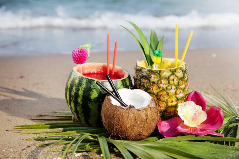 tropiska coctailar fotografering för bildbyråer