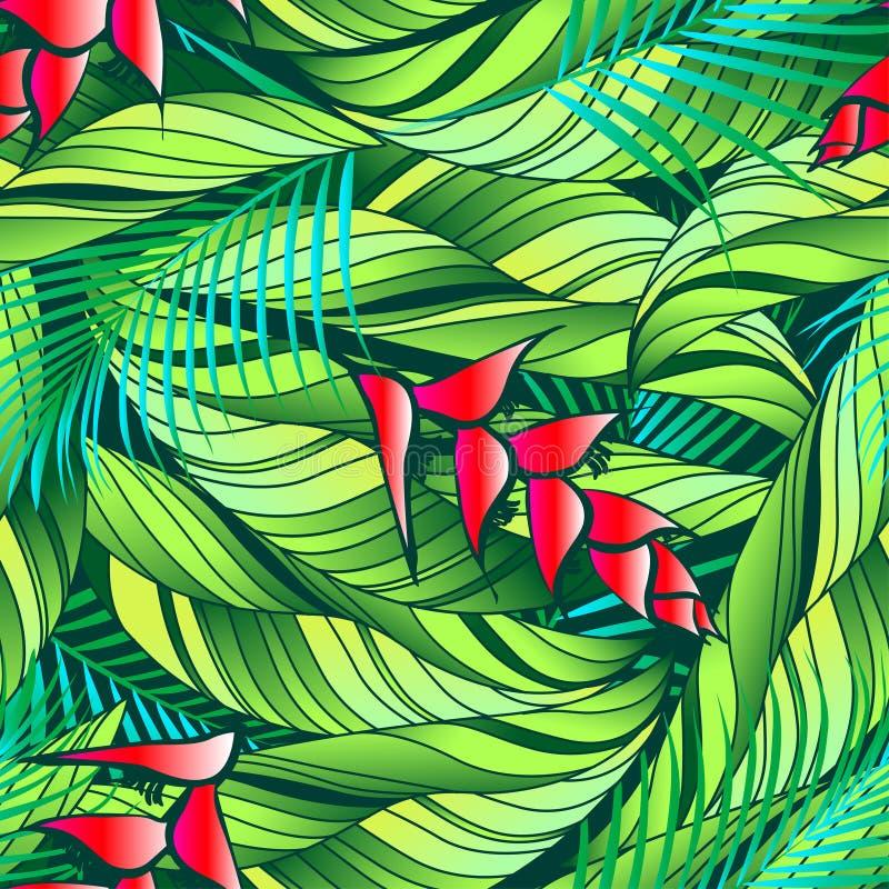 Tropiska Heliconia. royaltyfri illustrationer
