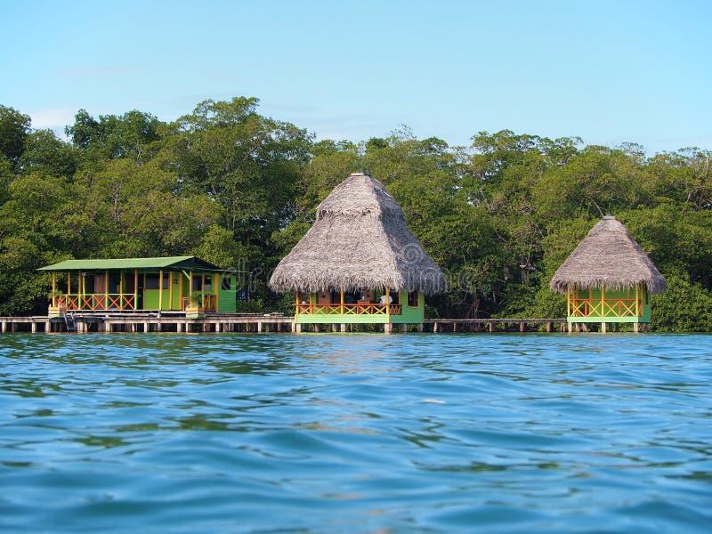 tropiska kabiner arkivfoto
