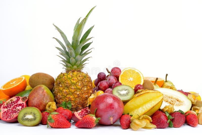 tropiska nya frukter royaltyfria foton