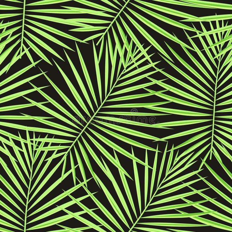 Tropiska palmblad mönstrar sömlös bakgrund Moderiktig blom- lövverkmodell för exotiskt mode Sömlös härlig botanik gömma i handfla royaltyfria foton
