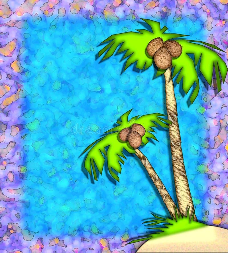 Download Tropiska palmträd stock illustrationer. Illustration av semester - 502681