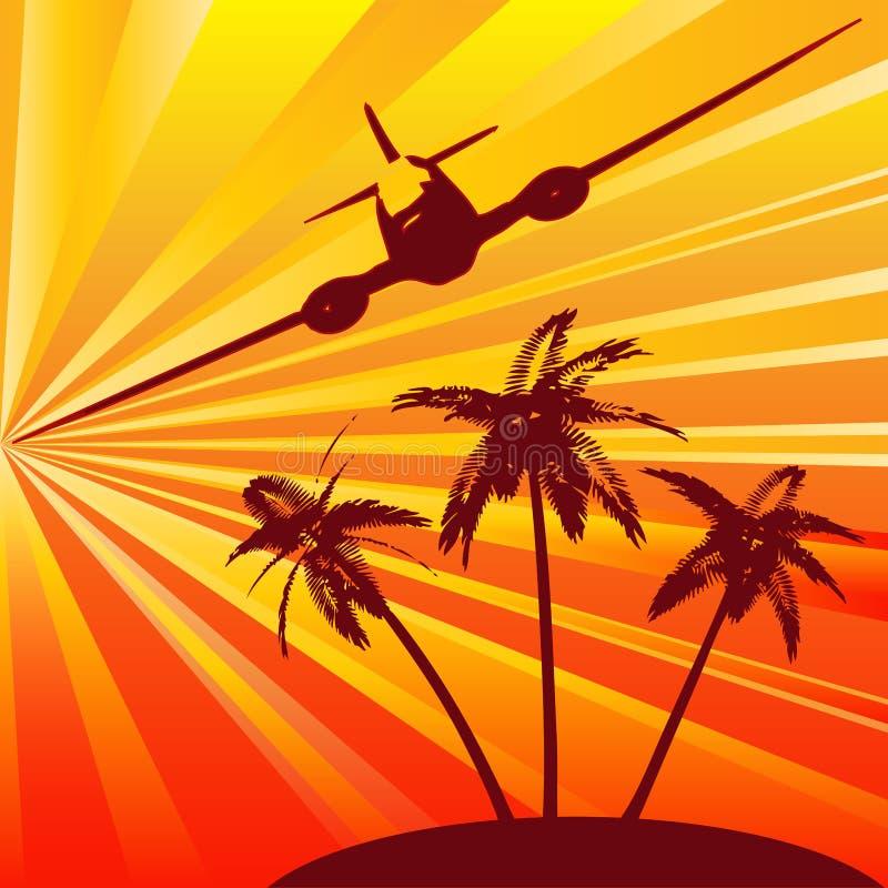 tropiskt bakgrundslopp royaltyfri illustrationer