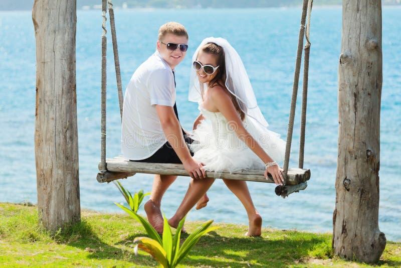 tropiskt bröllop royaltyfria foton