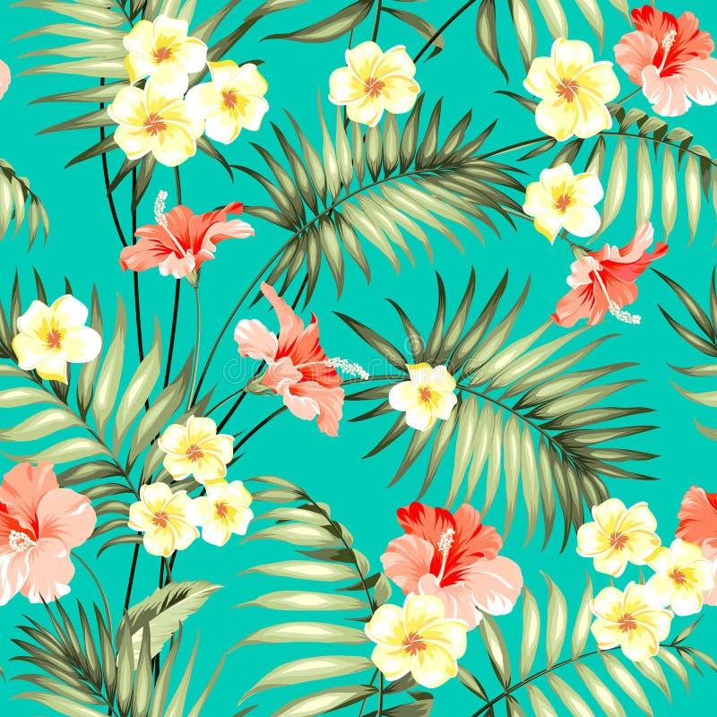 tropiskt designtyg stock illustrationer