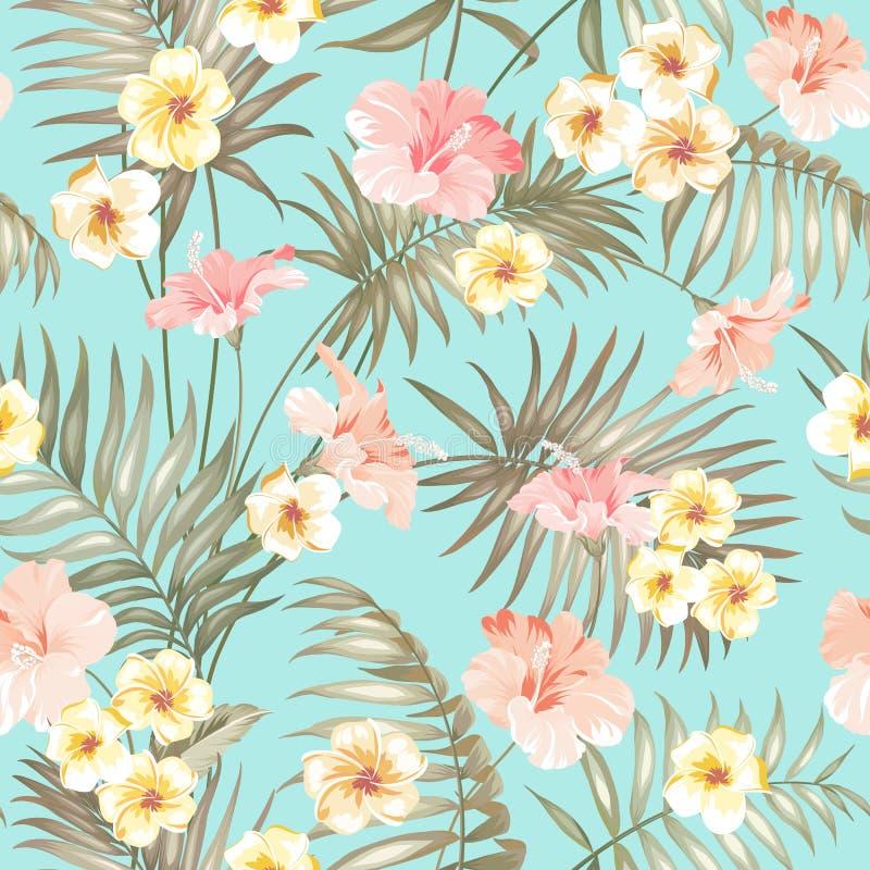 tropiskt designtyg royaltyfri illustrationer