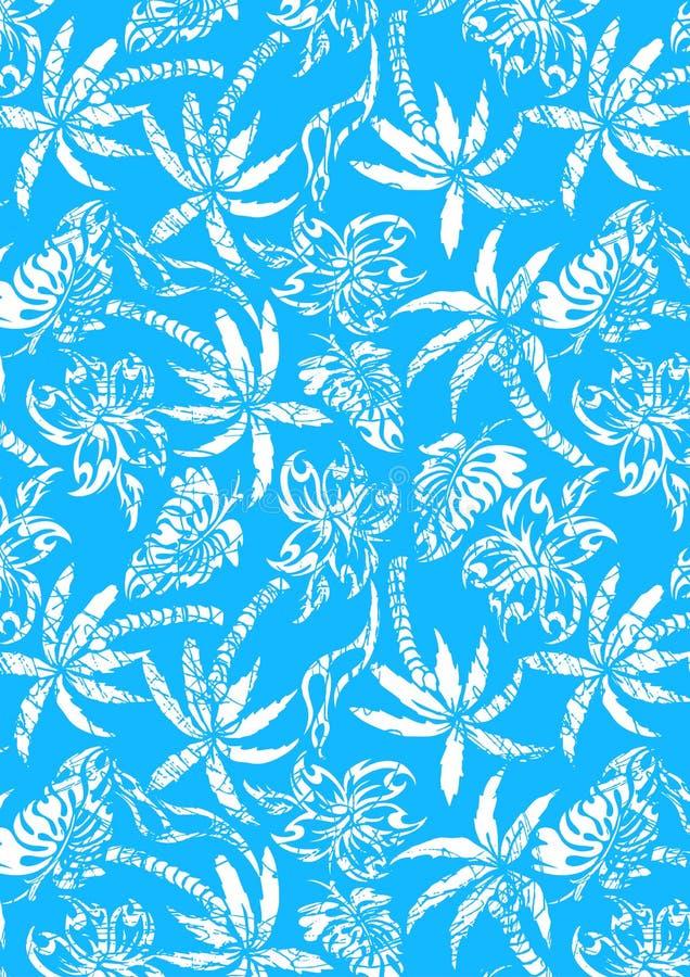 Tropiskt gömma i handflatan med bekymrad textur. stock illustrationer