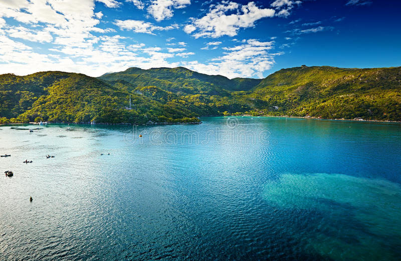Tropiskt hav i Haiti royaltyfri fotografi