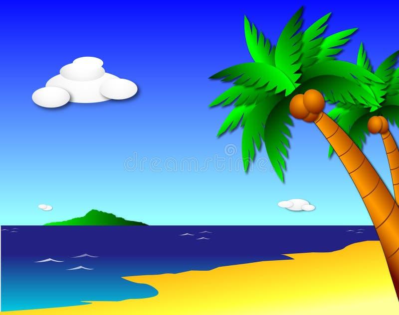 tropiskt paradis royaltyfri illustrationer