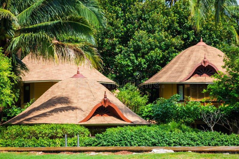 Tropiskt strandhus på ön Koh Samui, Thailand arkivbild