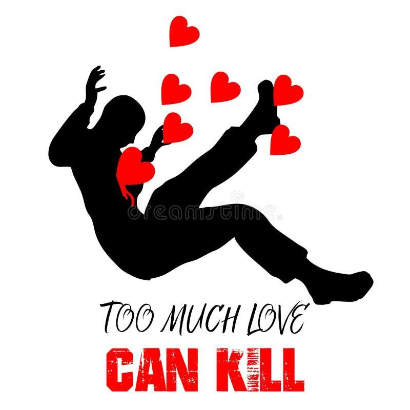 Troppo amore può uccidere royalty illustrazione gratis