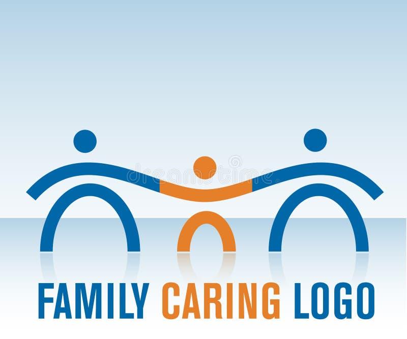 troskliwy rodzinny logo royalty ilustracja