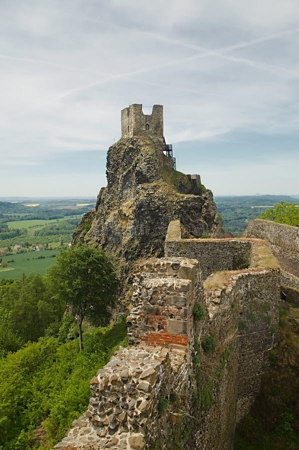 Trosky-Schloss-Ruine stockbild