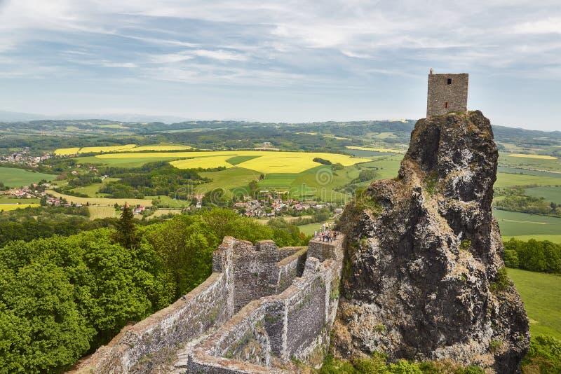 Trosky-Schloss-Ruine stockfoto