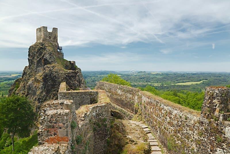 Trosky-Schloss-Ruine lizenzfreies stockbild