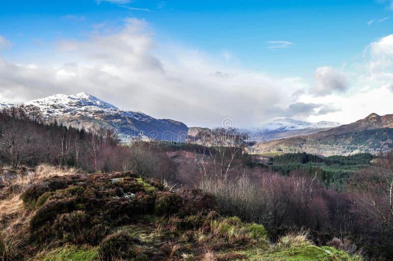 Trossachs Schottland stockfotos