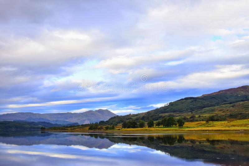 Trossachs Walk Landscape Scotland. Beautiful landscape of Loch at Trossachs royalty free stock image