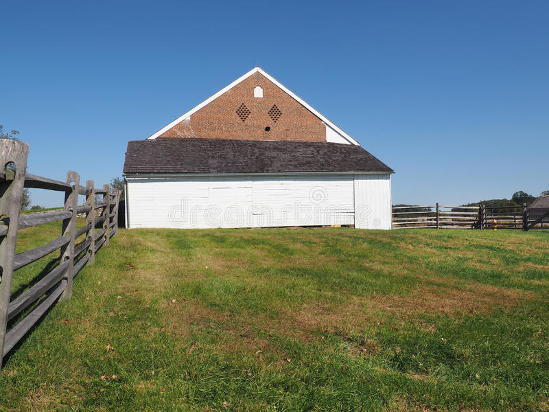 Trostle barn in Gettysburg PA stock photography