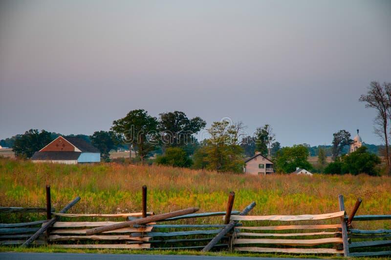 Trostle Farm at Dusk stock images