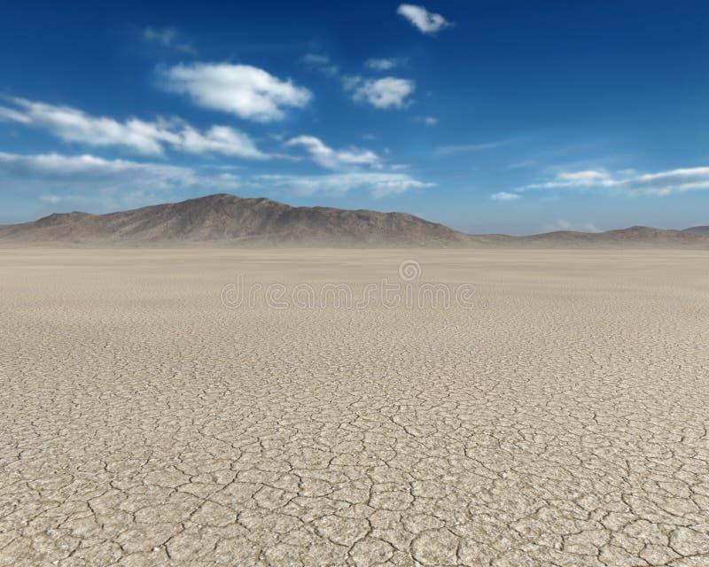 Trostlose Wüste, gebrochener Schlamm, Hintergrund, Schmutz stockfotografie