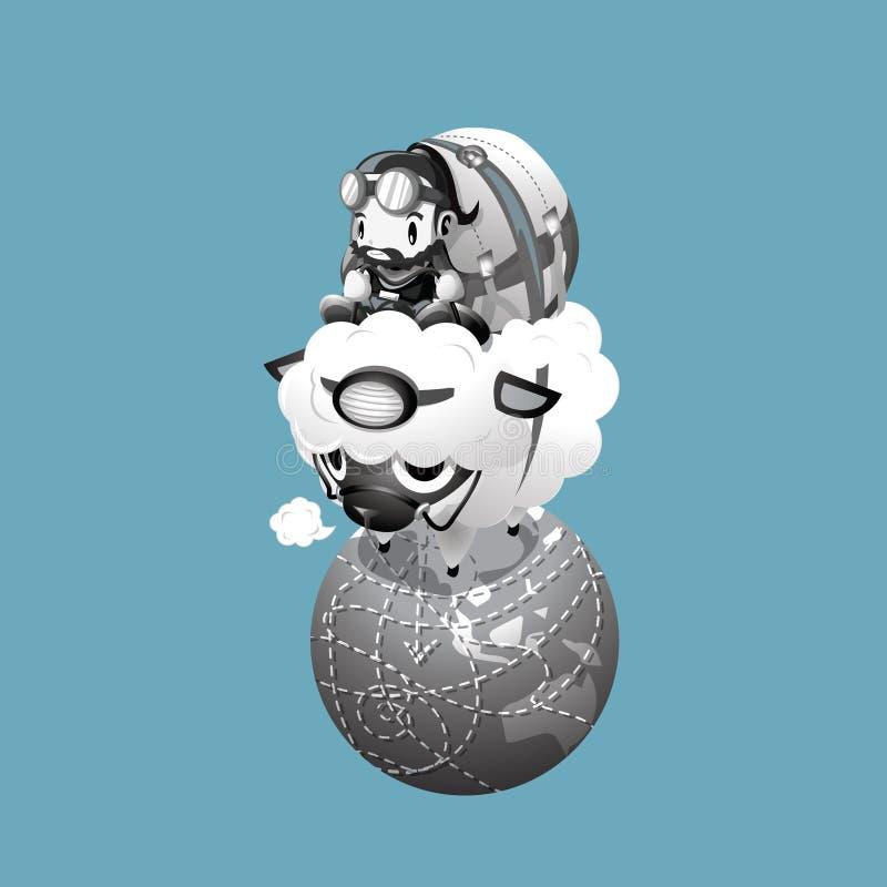 Trotón del globo imágenes de archivo libres de regalías
