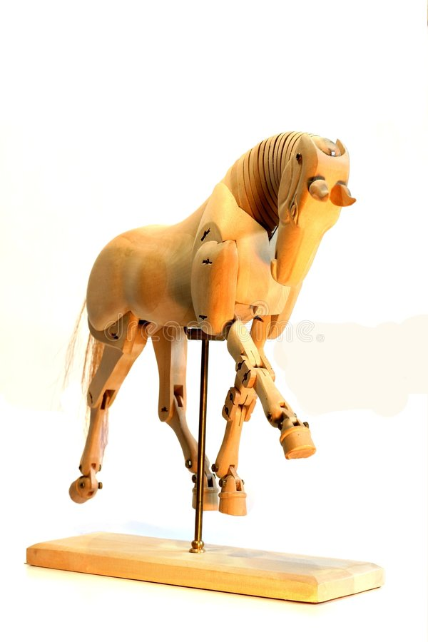 Trote do mannequin do cavalo imagem de stock