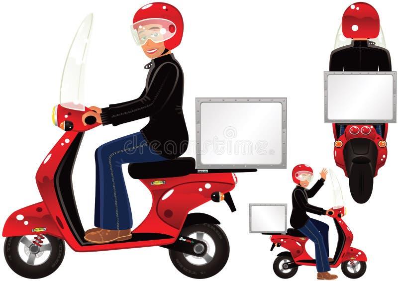 'trotinette' da entrega ilustração stock