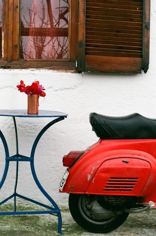 'trotinette' do italiano do vintage foto de stock