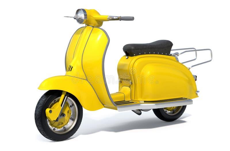 'trotinette' retro amarelo fotografia de stock royalty free