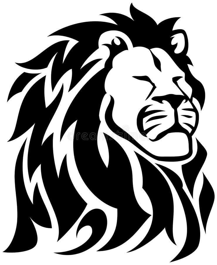 Trots Lion Tribal Tattoo stock illustratie