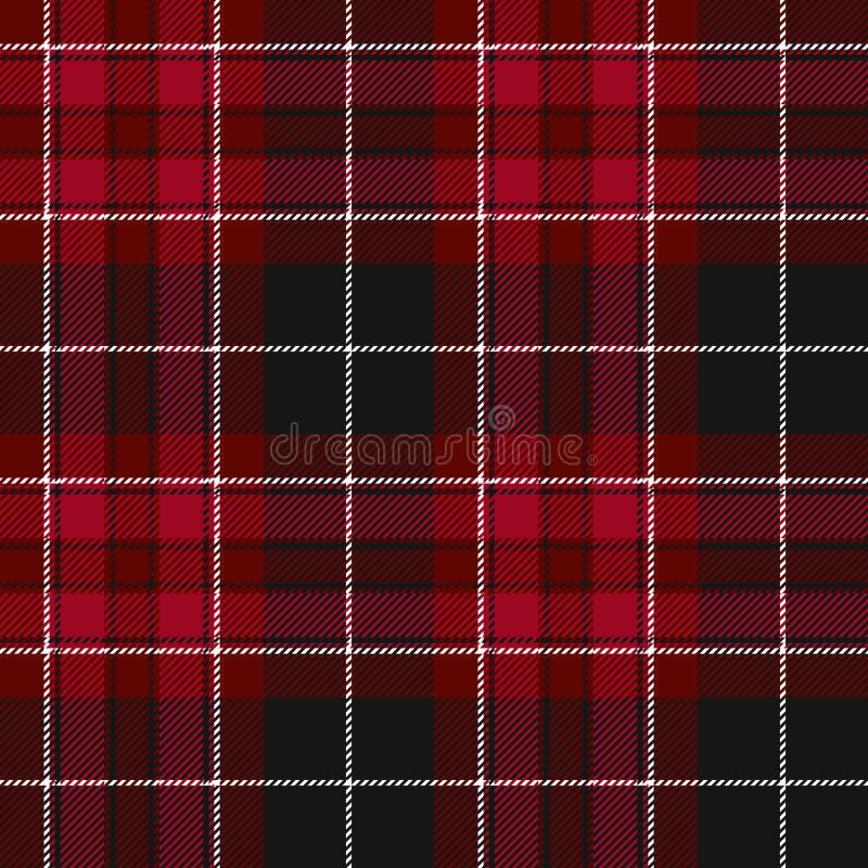 Trots van van de de stoffentextuur van Wales rood het geruite Schots wollen stof naadloos patroon vector illustratie