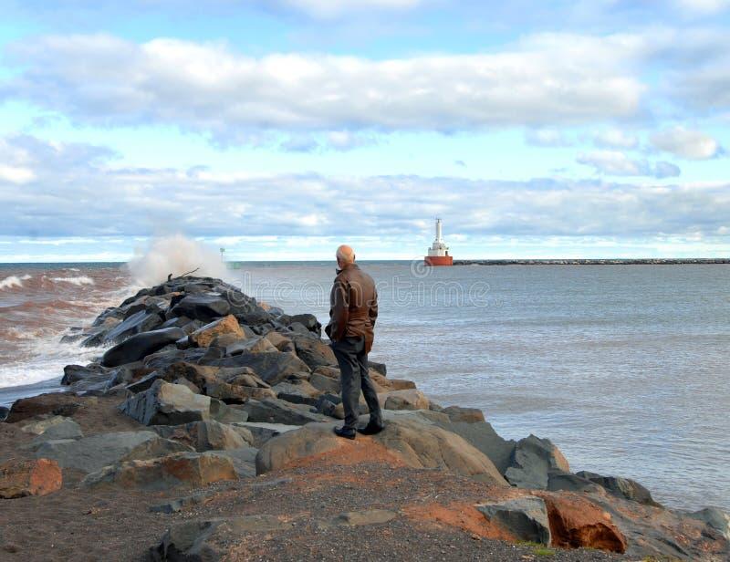 Trotsa vind på norr tillträdesljus fotografering för bildbyråer