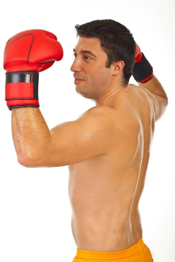 Trotse boksermens stock foto's