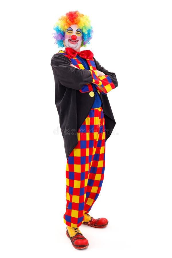 Trotse clown status stock foto's