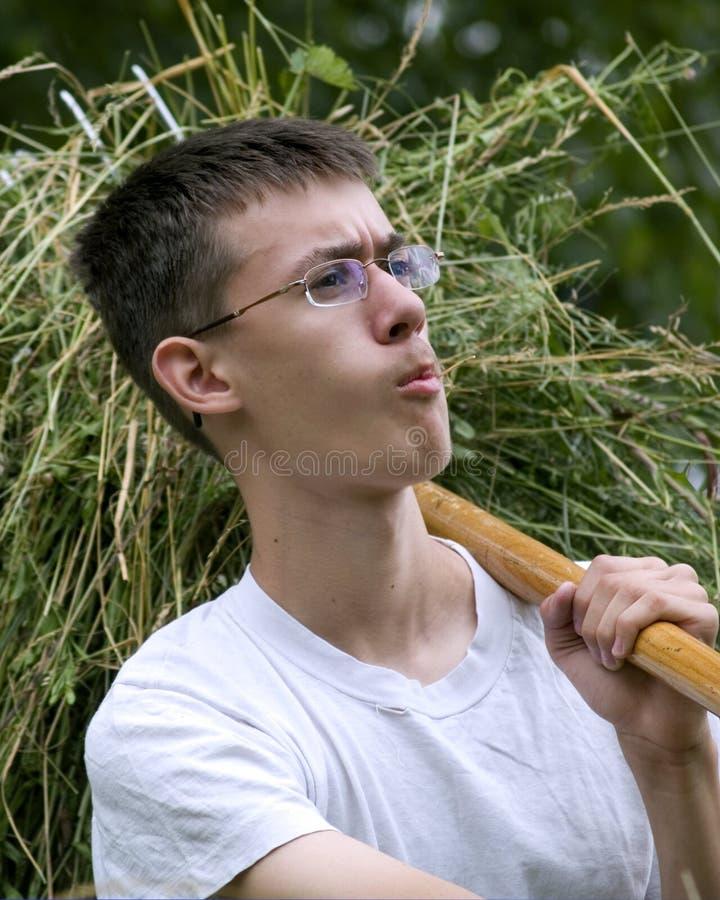 Trotse jonge landbouwer stock afbeelding