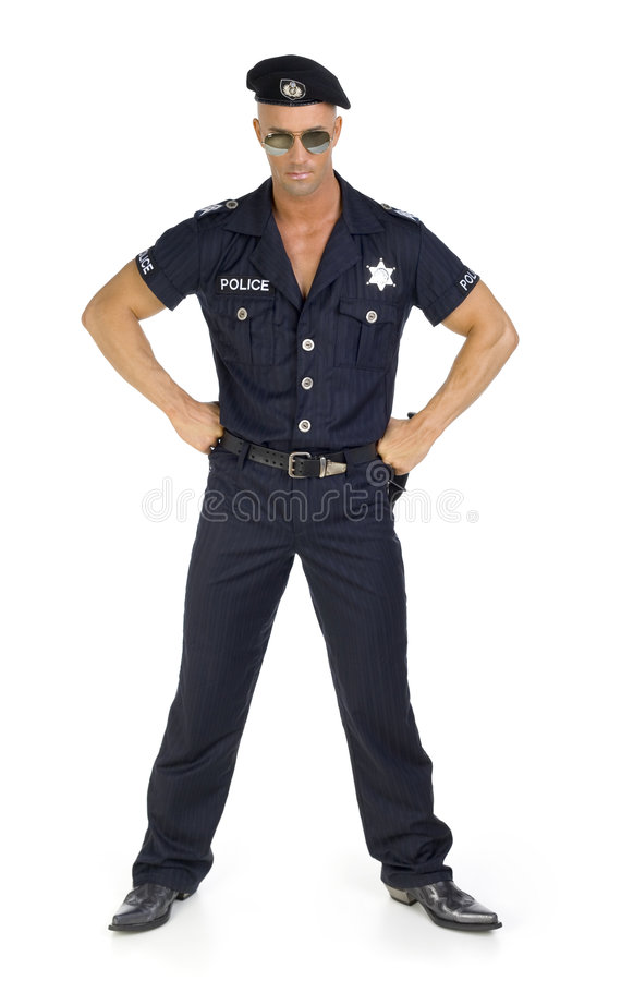 Trotse politieagent royalty-vrije stock foto's