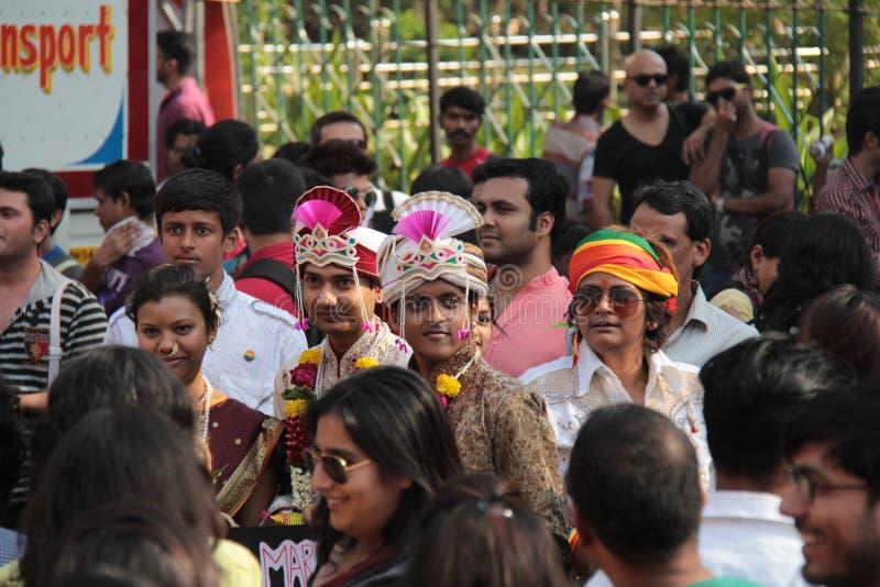 Trotsparade in Mumbai stock foto