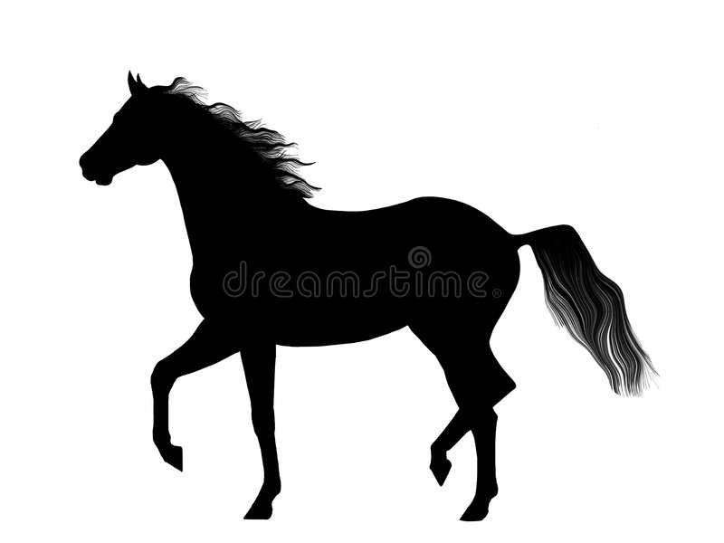 Trotting Horse Royalty Free Stock Image