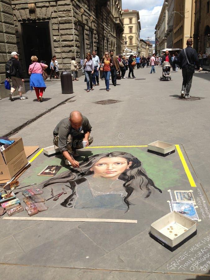 Trottoarmålare royaltyfria foton