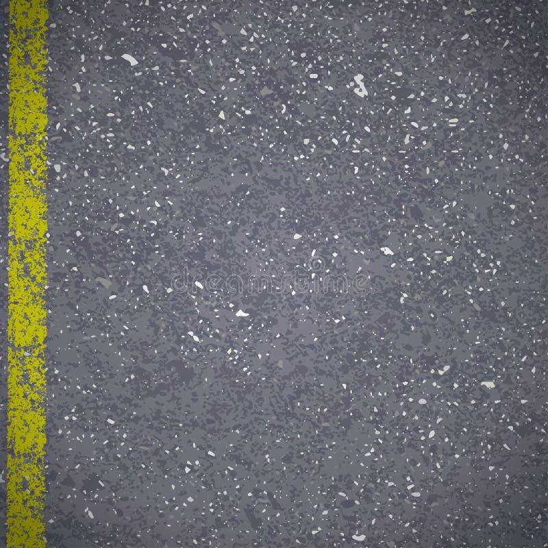 Trottoir de route goudronnée avec l'inscription jaune criquée illustration libre de droits