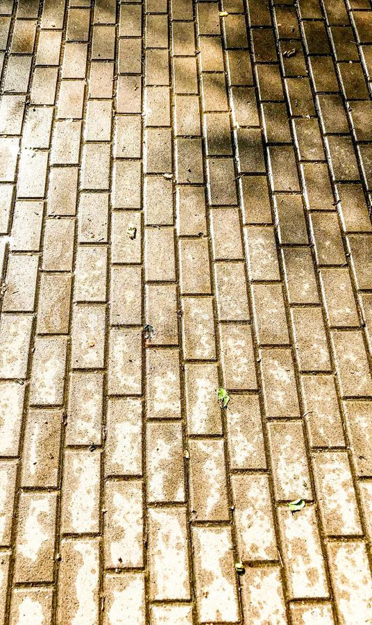 Trottoir humide de pierre dans la perspective images stock